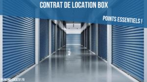 Contrat de location d'un box