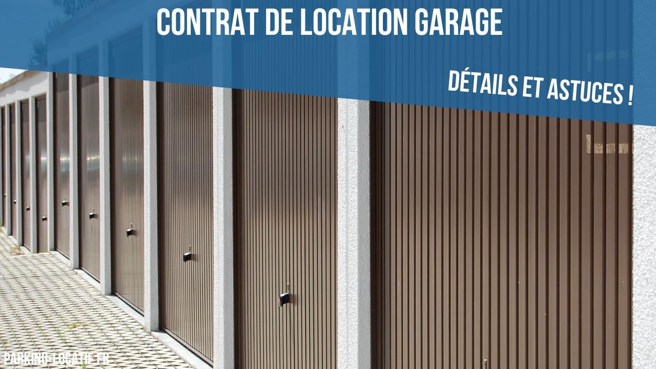Contrat de location garage